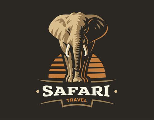 矢量素材,矢量图,设计素材,创意设计,标志设计,logo设计,动物,大象,ep