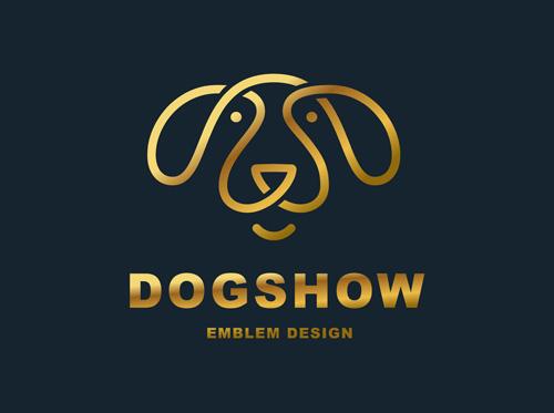 狗狗元素标志