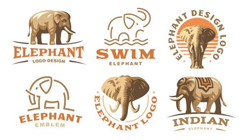 矢量素材,矢量图,设计素材,创意设计,标志设计,logo设计,动物,大象