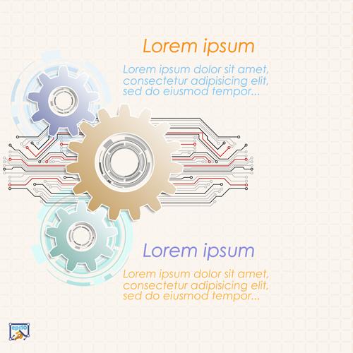 齿轮与抽象元素