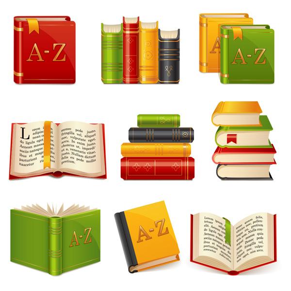 素材分类: 其它所需点数: 0 点 关键词: 九款多彩复古书籍书本矢量