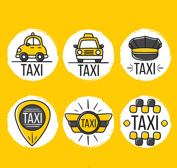 出租车元素标签