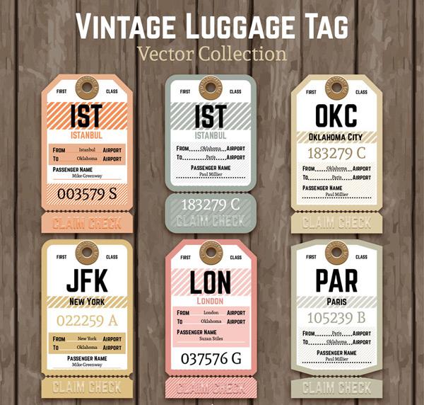 复古纸质行李牌
