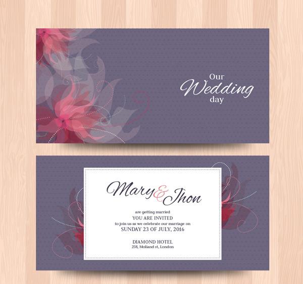花纹婚礼卡片