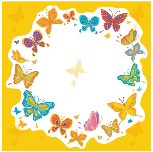 蝴蝶元素边框