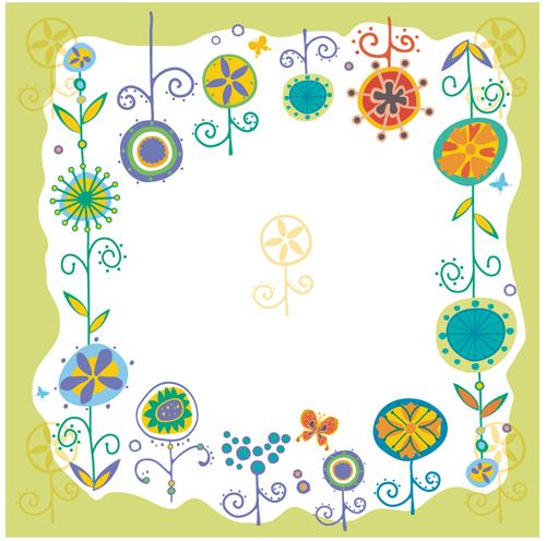 花朵元素边框