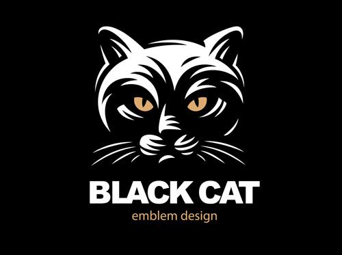 矢量素材,矢量图,设计素材,创意设计,标志设计,logo设计,动物,猫咪