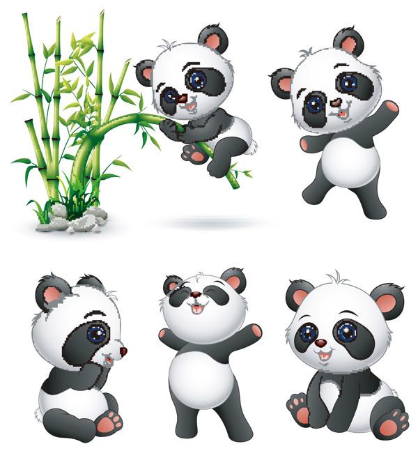 可爱卡通大熊猫_素材中国sccnn.com