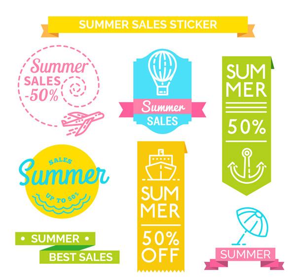夏季销售贴纸