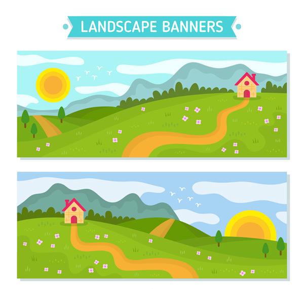 郊外风景banner