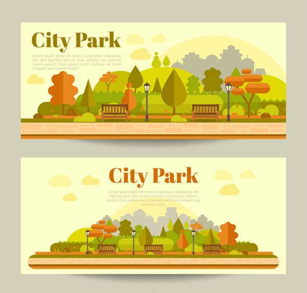 城市公园banner_素材中国sccnn.com