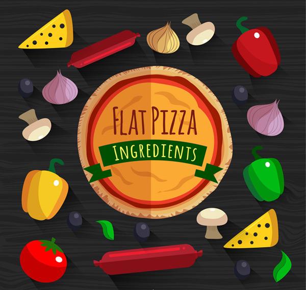 扁平化披萨原料