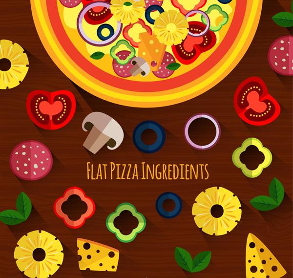 美味披萨和原料