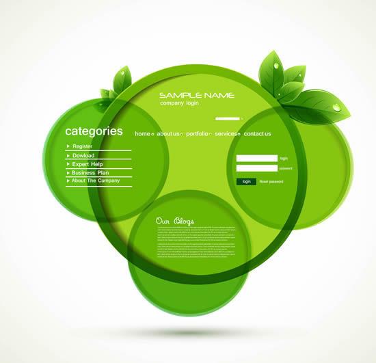 圆圈网页界面