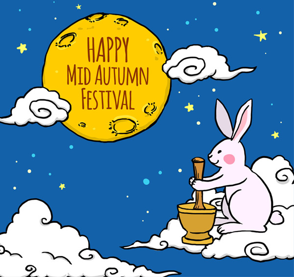 素材分类: 矢量中秋节所需点数: 0 点 关键词: 可爱中秋节捣药兔子