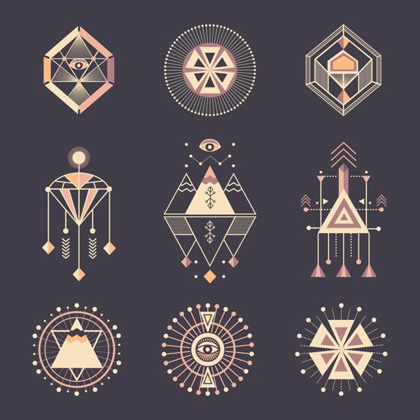 抽象几何图案标志