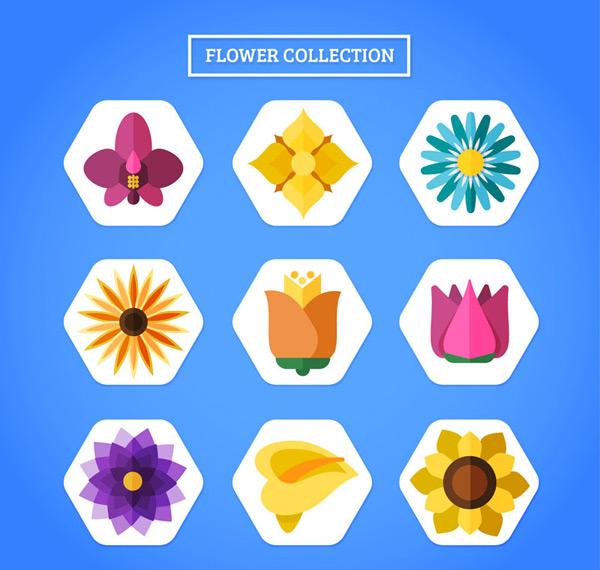 扁平化花朵图标