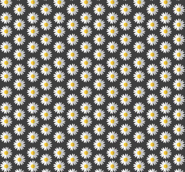 雏菊花朵无缝背景