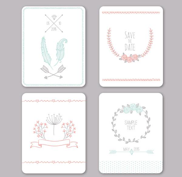 清新婚礼卡片