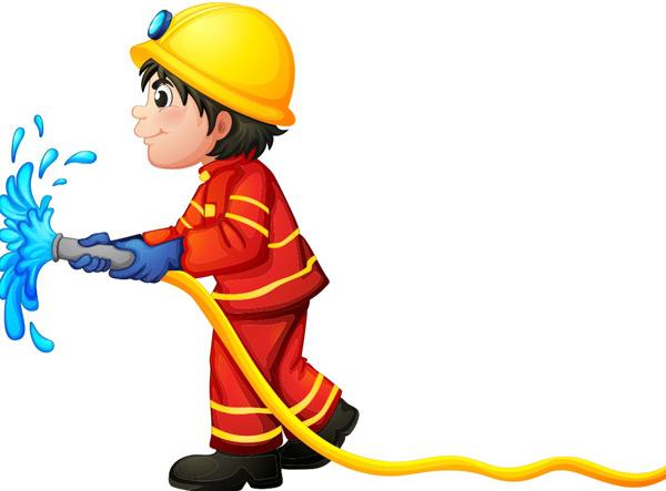 消防员卡通矢量_素材中国sccnn.com