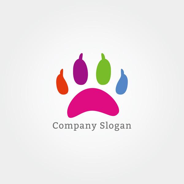 0 点 关键词: 多彩创意动物脚掌标志矢量素材,多彩,可爱,脚印,动物