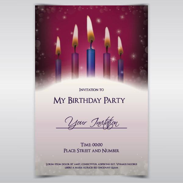 Purple Invitation for luxury invitations layout