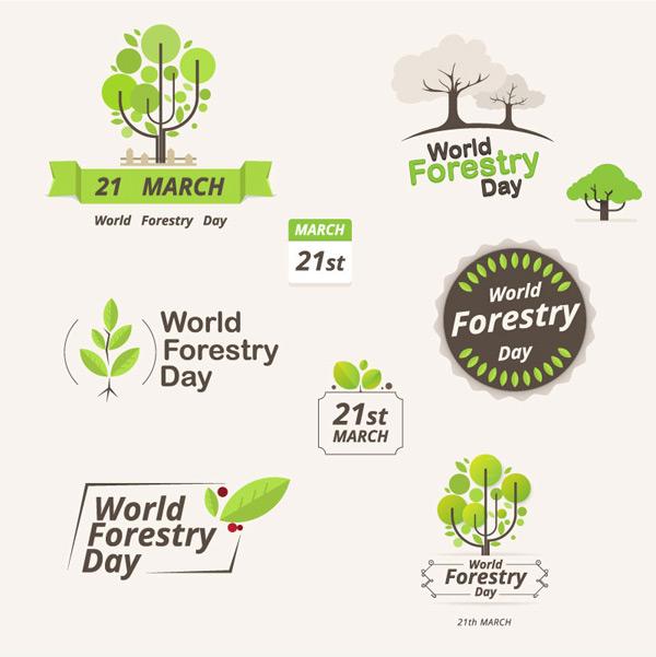 树木,叶子,植物,绿化,国际森林日,标志,矢量图,ai格式 下载文件特别说