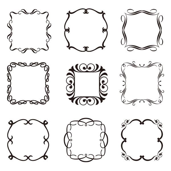 花边边框矢量素材,欧式,复古,精美,花纹,花边,边框,边角,底纹,线条