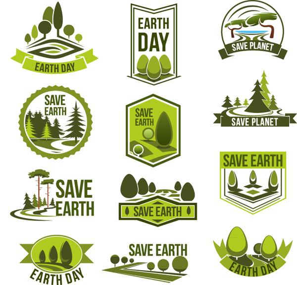 绿色拯救地球标志