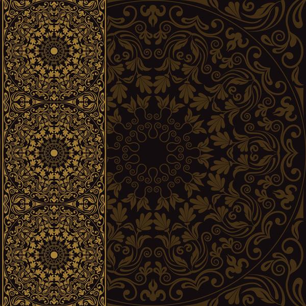 素材分类: 其它所需点数: 0 点 关键词: 欧式金色圆形藤蔓花纹背景