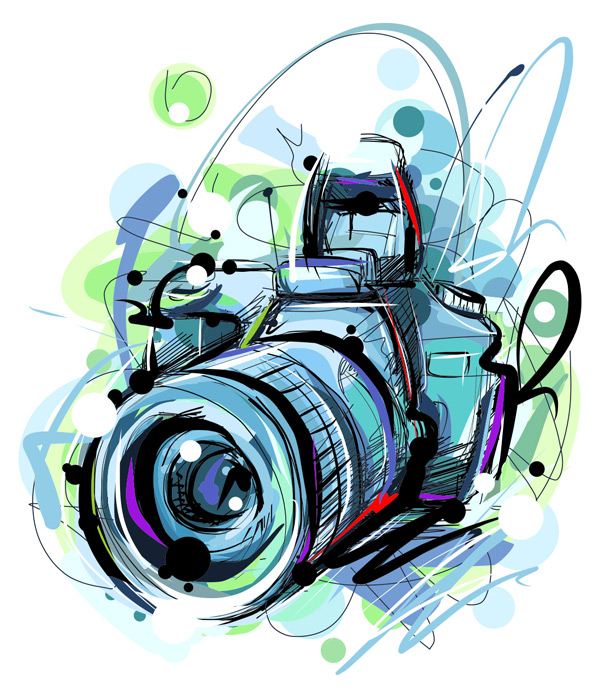 素材分类: 其它所需点数: 0 点 关键词: 手绘蓝色水彩单方相机矢量