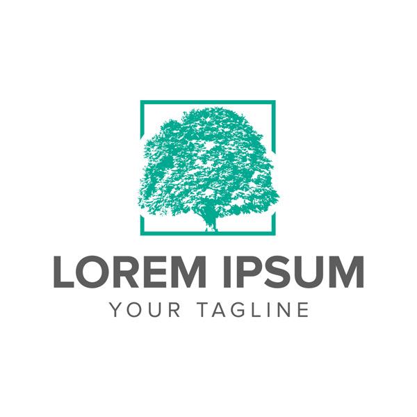 抽象大树logo