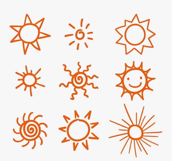太阳的画法步骤图片