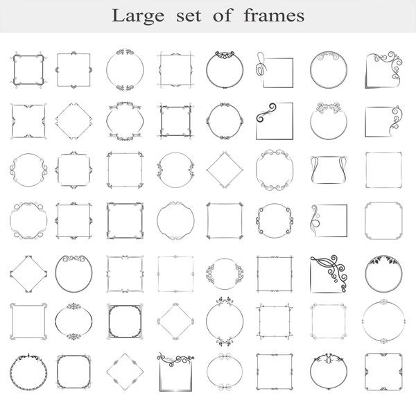 几何花纹边框