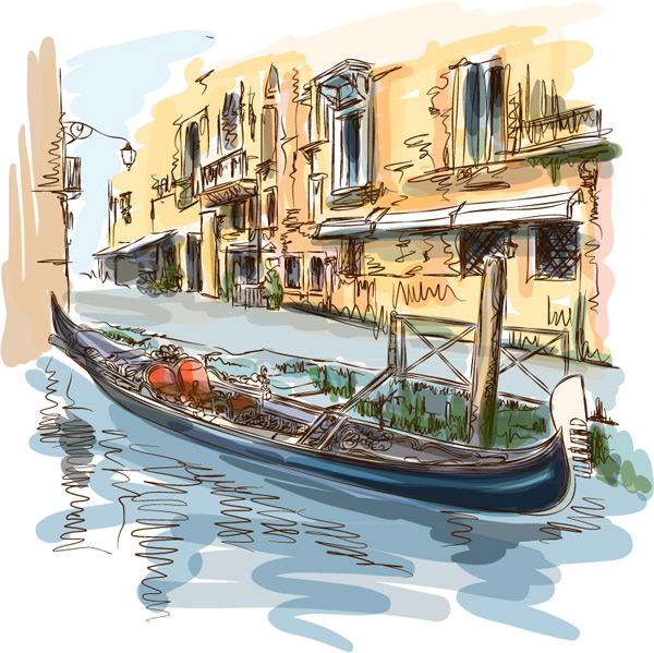 威尼斯水城风景_素材中国sccnn.com