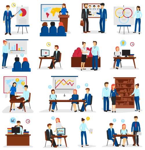 工作中的职场人物_素材中国sccnn.com