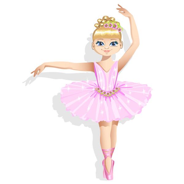 0 点 关键词: 粉色裙装芭蕾舞女孩矢量图,舞蹈,裙子,芭蕾舞,女孩