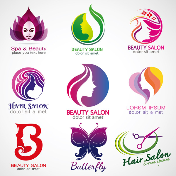 女性,多彩,创意,抽象,logo标志,造型,美容,美发,行业,图形,标志设计