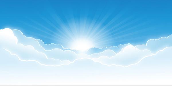 蓝天和阳光矢量