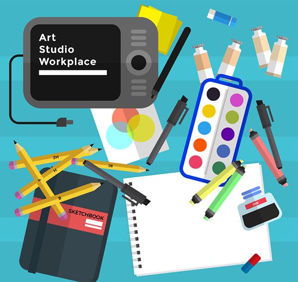 艺术工作室元素