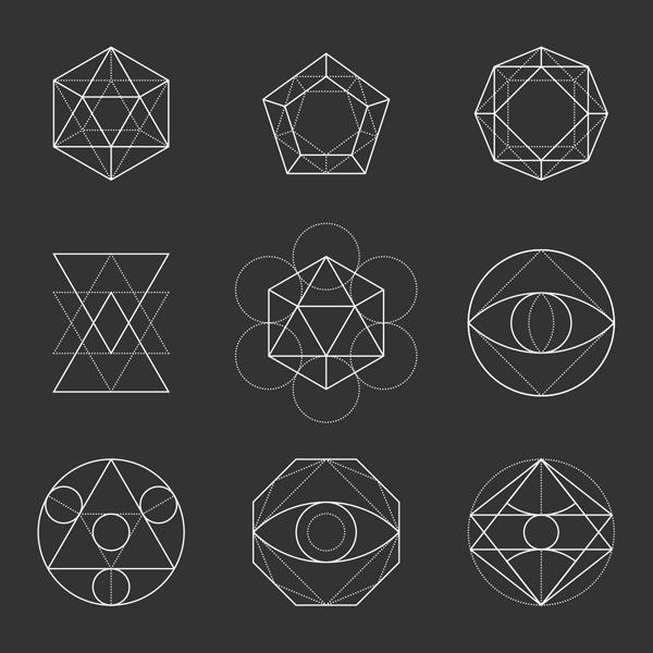 素材分类: 其它所需点数: 0 点 关键词: 白色线条几何图形矢量素材