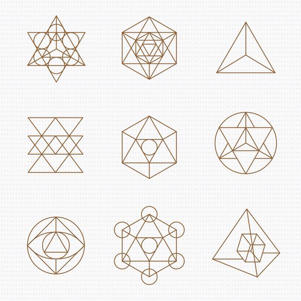 幾何,圖案,圖形,組合,神圣,符號,標志,插圖,設計元素,形狀,視覺,藝術