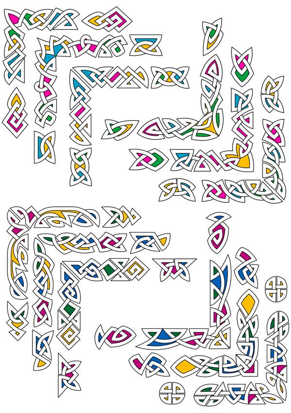 多彩编织花纹