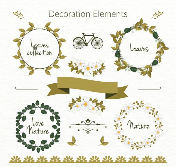 绿叶花环装饰物
