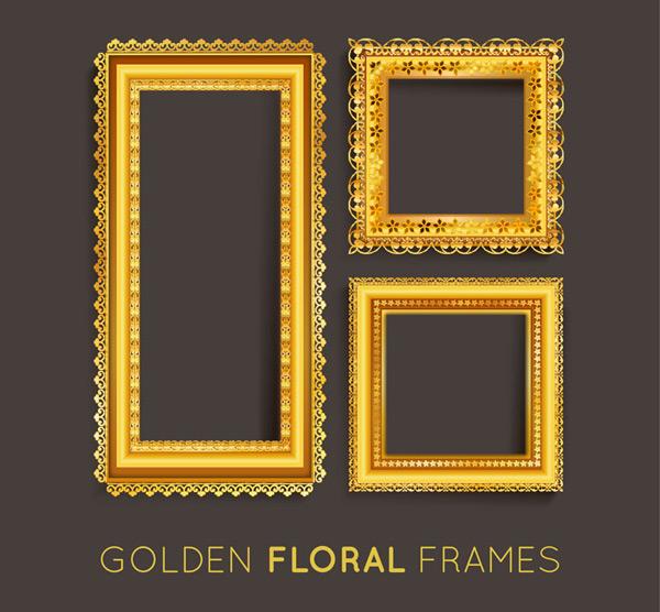 金色相框设计