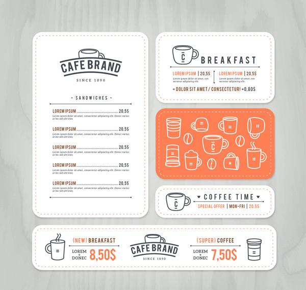 咖啡卡片设计