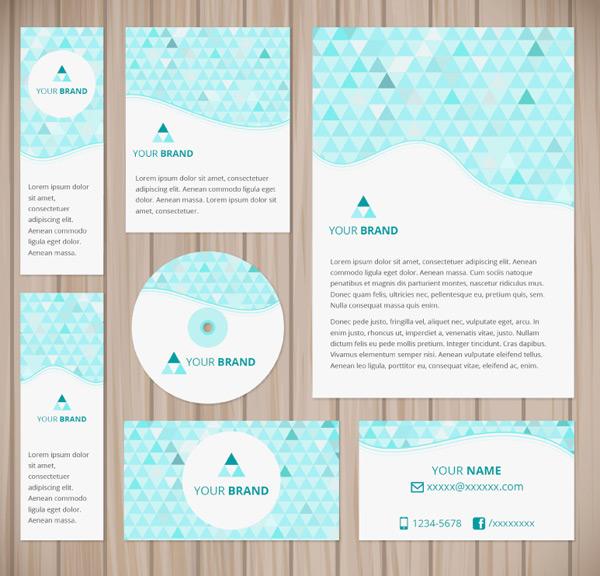 三角形商务卡片