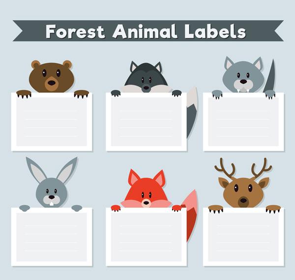森林动物标签