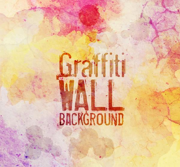 水彩涂鸦墙壁背景
