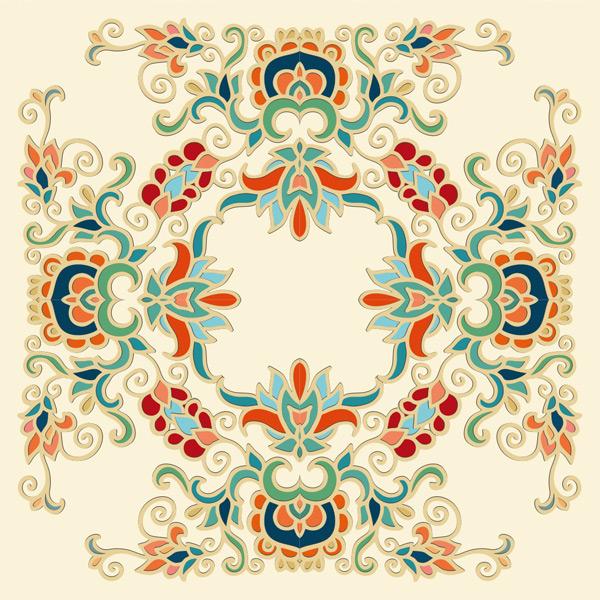 精美复古花纹装饰